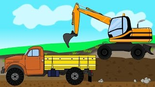 getlinkyoutube.com-Repair of Roads | Cartoons for kids - Bajki dla dzieci