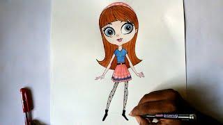 getlinkyoutube.com-how to draw blythe from littlest pet shop