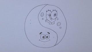 getlinkyoutube.com-Como desenhar o Yin e Yang (versão Bob Esponja e Patrick)