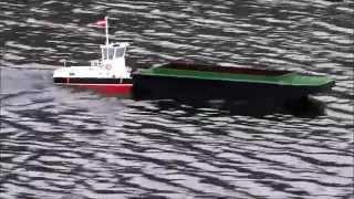 getlinkyoutube.com-RC Schubschiff Taurus II und Schubleichter RC Tug boat and barge