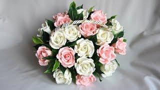 getlinkyoutube.com-Мастер класс. Букет из конфет Корзина с розами своими руками