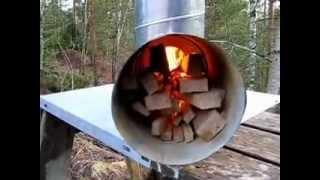 getlinkyoutube.com-Rocket Stove with Big Fire Tube