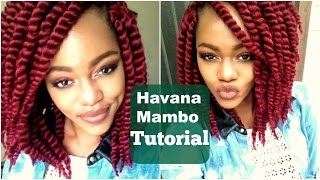 "getlinkyoutube.com-DIY Havana Mambo Twists Crotchet Tutorial using Burgundy 12"" Hair"