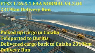 getlinkyoutube.com-Euro Truck Sim 2 1.26.5.1 EAA NORMAL V4.2.04 2319km Delivery Run