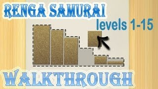 renga samurai walkthrough 1-15