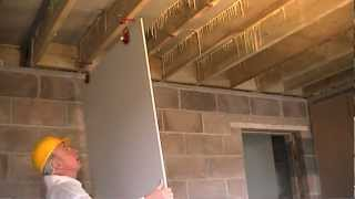 getlinkyoutube.com-How to Fit Plasterboard to Ceilings. The Easy Way To Hang and Attach Drywall / Ceiling Boards