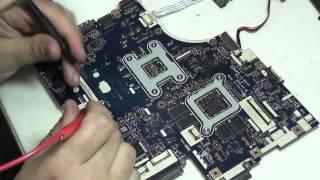 getlinkyoutube.com-Ремонт Acer Aspire 5552G после прогревальщиков, попадание жидкости Compal LA-5911P new75