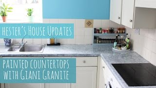 getlinkyoutube.com-Painted kitchen counters with Giani Granite, Hester's House Updates