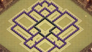 Clash of Clans - TH8 Trophy & Clan Wars Base (4 Mortars) (Anti Hog and Air) (Christmas Update)