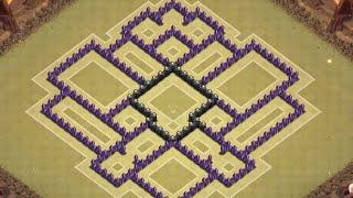 getlinkyoutube.com-Clash of Clans - TH8 Trophy & Clan Wars Base (4 Mortars) (Anti Hog and Air) (Christmas Update)