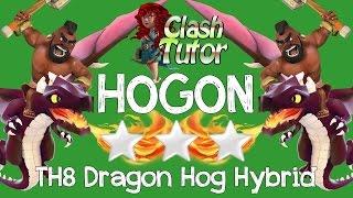 getlinkyoutube.com-Clash of Clans TH8 Dragon Hog Dragrider