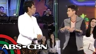 getlinkyoutube.com-Vice Ganda, Mario Maurer dance 'Gangnam'