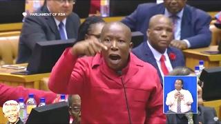 Julius Malema Getting Very Angry SONA 2017