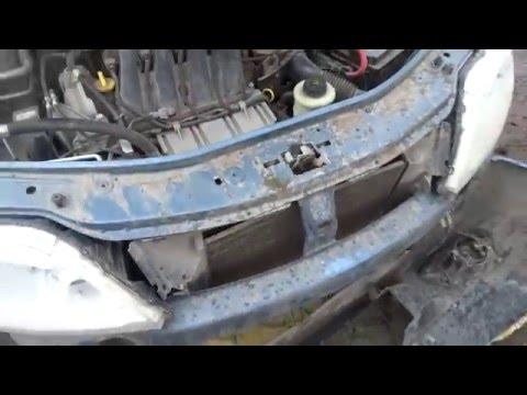 Как снять передний бампер на Рено Логан Renault Logan и Лада Ларгус