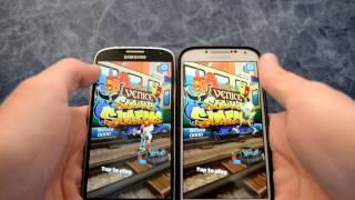 getlinkyoutube.com-Samsung Galaxy s4 i9505 Albe95 Lollirom s6 look vs i9500 Aurora rom speed test