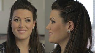 getlinkyoutube.com-Warrior Chic Braids Tutorial (inspired by hairstyles featured in The 100 & Vikings)