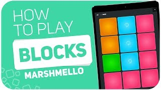 How to play: BLOCKS (Marshmello) - SUPER PADS - Kit BASS