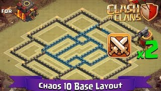 getlinkyoutube.com-Clash Of Clans: TH10 | BEST Clan War Base Layout (2 x Air Sweepers) - Chaos 10