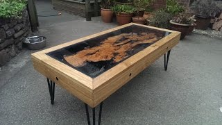 getlinkyoutube.com-Tree Root, Oak And Glass Coffee Table: Reborn From Disaster............... DSNERV