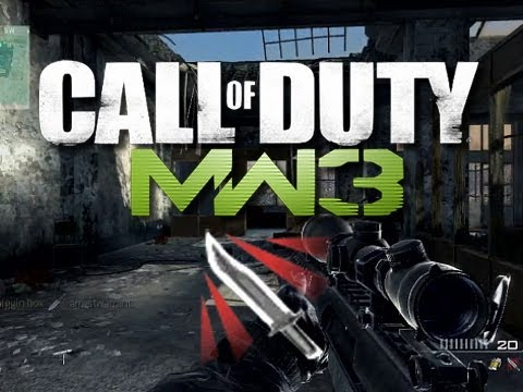 MW3 Throwing Knife Montage Gameplay (Modern Warfare 3 Multiplayer Gameplay)