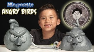 getlinkyoutube.com-Magnetic ANGRY BIRDS! Crazy Aaron's MAGNETIC THINKING PUTTY from Vat19!