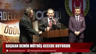 Başkan Demir müthiş gecede duyurdu! 20 Ocak Anıtı meclisten geçecek