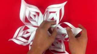 getlinkyoutube.com-Copo de nieve de papel - Manualidades de origami