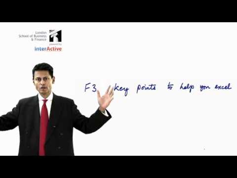 LSBF ACCA F3: Financial Accounting; Key Facts about The Bigger Picture