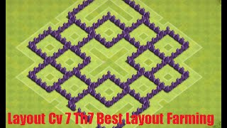 getlinkyoutube.com-Layout Cv 7 Town Hall 7 Best Layout Farming August
