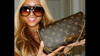 getlinkyoutube.com-Review of = Louis Vuitton - Favorite MM, What's in my bag & outfit of the day!