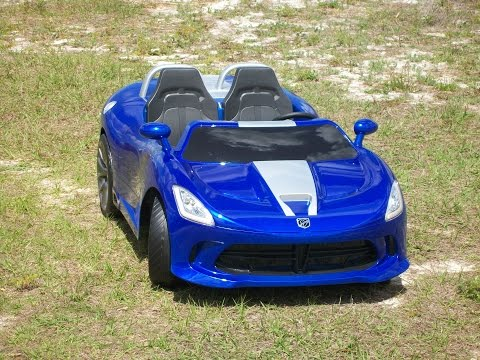 Vulgar Display Of Power Wheels Custom Candy Colbalt Blue Dodge Viper R