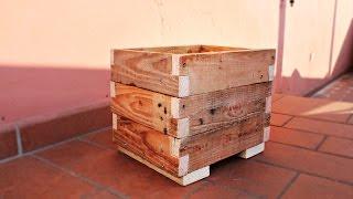 getlinkyoutube.com-Fioriera portavaso - riciclo pallet - Fai Da Te
