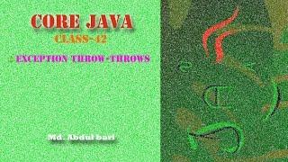 getlinkyoutube.com-Core Java- Bangla Tutorial(Exception throw-throws)- Class 42