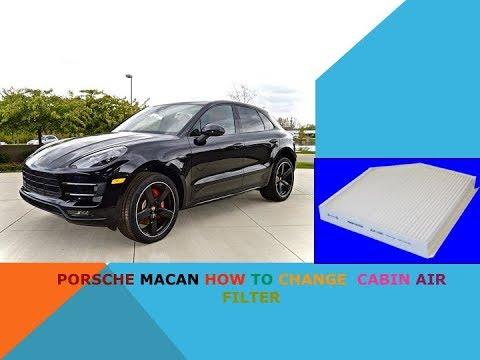 Porsche Macan how to change cabin air filter