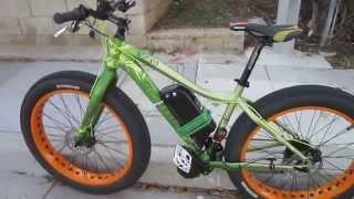 getlinkyoutube.com-BaFang 1000 Watt Mid-drive E-bike Conversion---Belt Cam Test Ride
