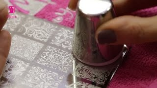 getlinkyoutube.com-Nail Stamping - How To Use Moyra Stamping Plates
