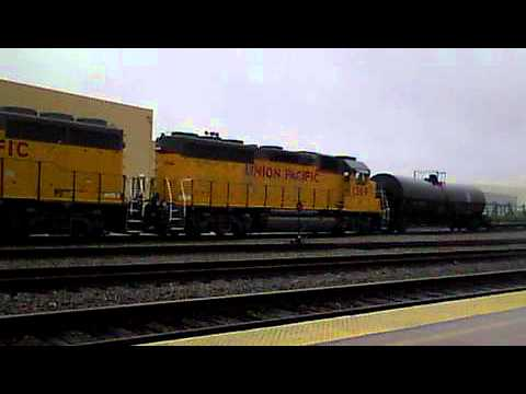 UP1368 & 69 Switch Cars around Gemco. 1-23-12.