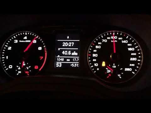 Разгон Audi Q3 FL 0-100 launch control