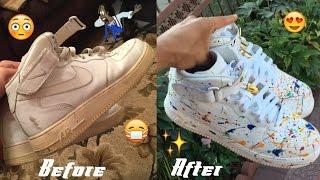 getlinkyoutube.com-Nike Air Force One FULL RESTORATION/CUSTOMIZATION