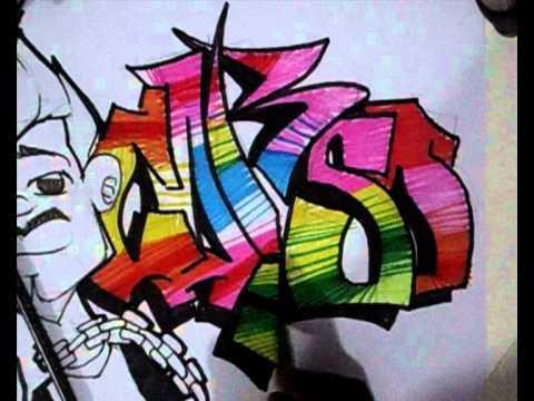 Vídeo Aula com Gene do Grafite 084 - Letra de Graffiti + Personagem Grafitado