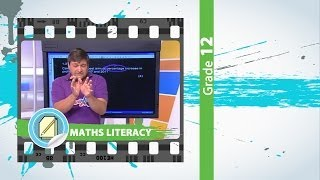 Gr 12 Maths Literacy: Finance & Graphs (Live)