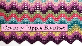 getlinkyoutube.com-Crochet for Knitters  - Granny Ripple Blanket