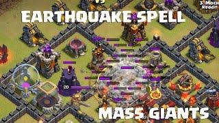 getlinkyoutube.com-TH10 v TH10 - 4 Earthquake + Mass Giants