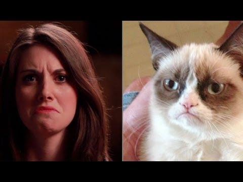 Allison Brie imitates popular memes