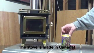 getlinkyoutube.com-Cubic Mini Wood Stove Unboxing & First Fire