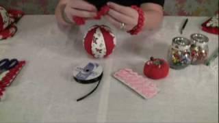 """getlinkyoutube.com-How to Make Easy, """"No Sew"""" Fabric Christmas Ornaments"""