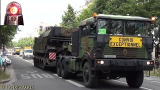 Convoi de l'Armée de terre // French Army Convoy Paris