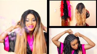 getlinkyoutube.com-FACILE ET SIMPLE ,Invisible  Hairline, avec ♥ Brazilian Body wave ♥