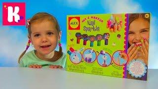 getlinkyoutube.com-Делаем лак для ногтей набор для изготовления распаковка mix and makeup nail Sparkle unboxing set toy