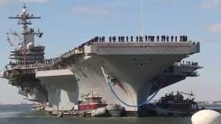 getlinkyoutube.com-USS George H.W. Bush (CVN 77) homecoming from Norfolk, Va. Part 1.
